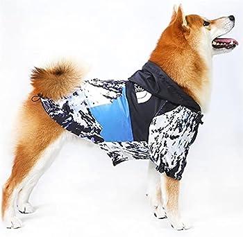 DHGTEP Imperméable À Capuche pour Chien de Petite Taille et de Taille Moyenne, Veste À Capuche Imperméable pour L'extérieur, 8 Tailles (Color : Blue, Size : 4XL)