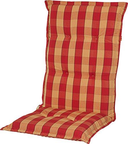 Casa Mina Polsterauflage Niederlehner 96x50cm Karo rot, Dessin 1006