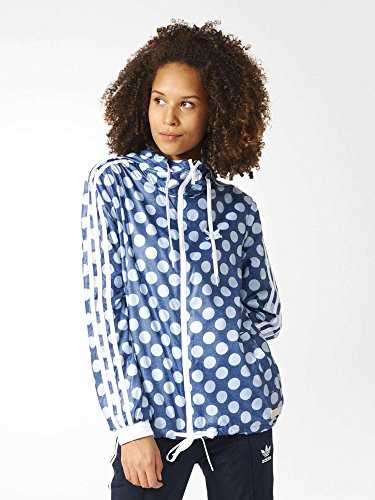 adidas Damen Windjacke Windbreaker, Blau/Azurea/Ópaper, 34, BJ8377