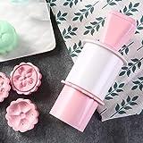 SUNIY 6 unids/Set Molde de Pastel de Luna para DIY Herramientas de Pastel de Luna émbolos de Pastel de pastelería de plástico Prensa de Mano Pastel de Luna