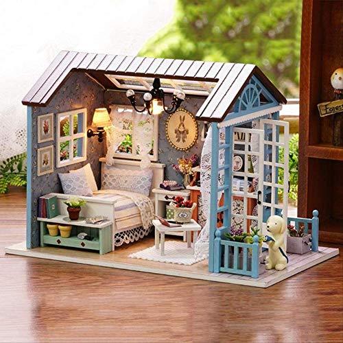 Diy Miniatur Puppenhaus Modell Holzspielzeug Mini Möbel Handgemachtes Puppenhaus Exquisites Haus Für Puppen Geschenke Spielzeug Für Kinder