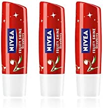Nivea Lip care [Fruity Shine Strawberry 4.8g X 3ea] Lip moisturizing effect & Vitamin E