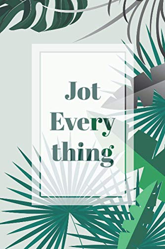 Jot Everything Notebook: Grid notebook journal diary for minimalism, hipsters and nature lovers