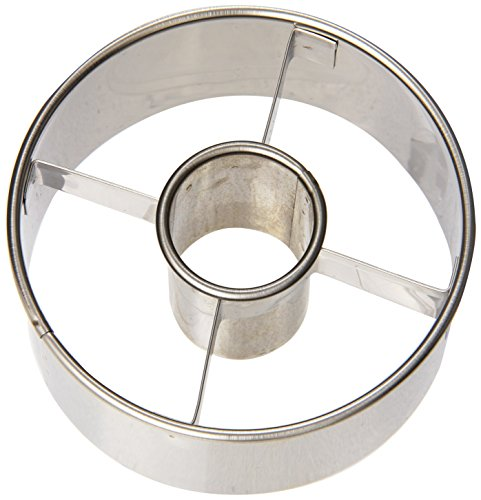 Ateco 3-1/2-Inch Stainless Steel Doughnut Cutter, Silver