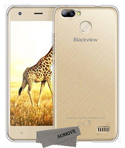 Sunrive Für Blackview A7 PRO Hülle Silikon, Transparent Handyhülle Schutzhülle Etui Case Backcover für Blackview A7 PRO(TPU Kein Bild)+Gratis Universal Eingabestift