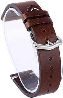 DFKai1run Klockarmband i läder, Wax Oil Skin Watch Straps Vintage Leather KLOCKARMBAND Watch Straps 18mm 20mm 22mm Svart B...