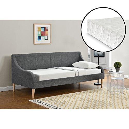 [en.casa] Driezitsbank - slaapbank met matras