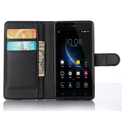 Easbuy Pu Leder Kunstleder Flip Cover Tasche Handyhülle Hülle Mit Karte Slot Design Hülle Etui für DOOGEE X5 PRO Smartphone Handytasche