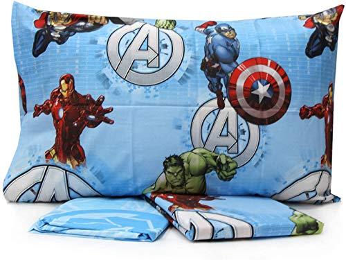 Personaggi Completo Letto Una Piazza Singolo Cotone sopra sotto Federa Avengers Originale - Singolo