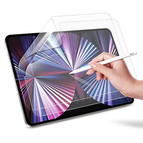 ESR 2 Stück Paper-Feel Bildschirmschutzfolien kompatibel mit iPad Pro 11 2021/2020/2018 & iPad Air 4 2020, Pencil kompatible Matte & blendfreie Schutzfolie (kein Glas)