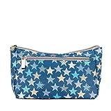 Kiwisac Neceser Bebé Trendy Casual Star Azul con Estrellas | Neceser Bebé Pequeño, Organizador Infantil, Diseño divertido, Doble Compartimento, Poliéster Impermeable, 25 x 9 x16 cm