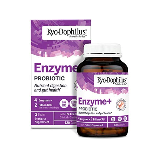 Kyo-Dophlius Enzymes + Probiotic, Nutrient Digestion and Gut Health*, 120 capsules   (Packaging may vary)