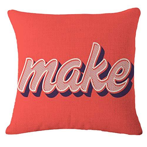 Federa quadrata per cuscino per casa, letto, divano, auto, 45 x 45 cm, (BOOM POP)