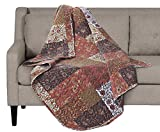 SLPR Red Riches Quilted Throw Blanket - 50' x 60' | Fall Lap Quilt for Couch and Bed