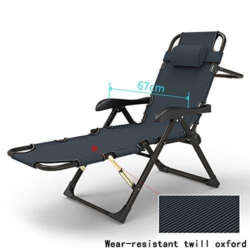 DD- Chaise longue, chaise longue de bureau, lit pliant, chaise multifonctionnelle, lit et chaise à double usage, appui-tête Sièges extérieurs (Couleur : A)