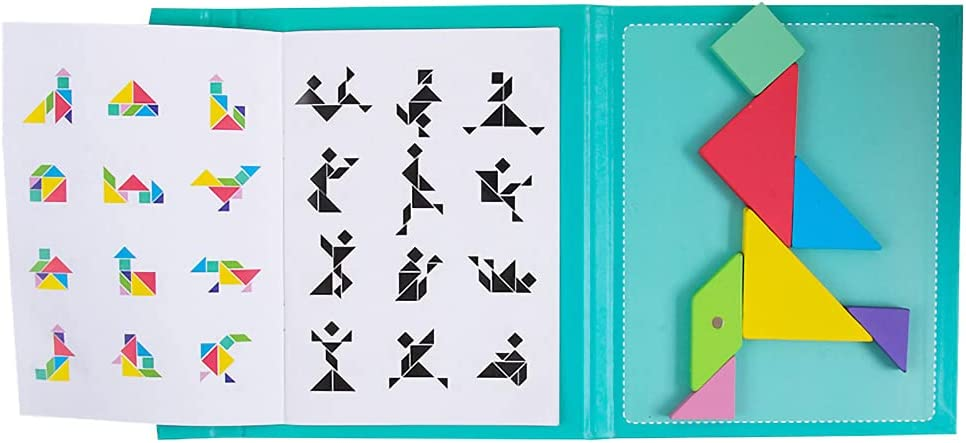 KUOPE Travel Tangram Puzzle Magnetic Ranking TOP2 Desi with Clip Manufacturer direct delivery Book