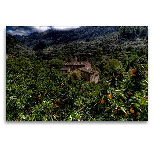 Premium Textil-Leinwand 120 x 80 cm Quer-Format Mallorca wundervolles Fornalutx | Wandbild, HD-Bild auf Keilrahmen, Fertigbild auf hochwertigem Vlies, Leinwanddruck von Juergen Seibertz
