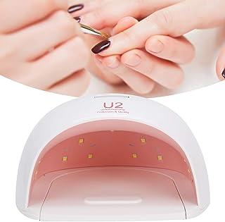 Lámparas de uñas LED UV, 72W Secador de uñas profesional Esmalte en gel Luz LED UV Manicura Curado Equipo de arte de uñas Llevar conveniente(EU)