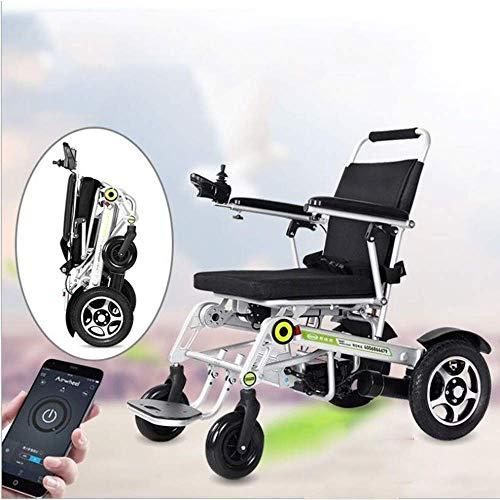 Inicio Accesorios Ancianos Discapacitados Silla de ruedas eléctrica Ligero Apilamiento automático Control de teléfono inteligente Caminar Plegable Viaje al aire libre Silla de ruedas Manual Eléctri