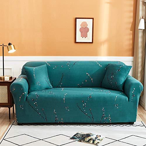 NOBCE Funda de sofá elástica geométrica para Sala de Estar, sofá de Esquina seccional Moderno, Funda de sofá, Protector de Silla, 1/2/3/4 plazas 90-140CM
