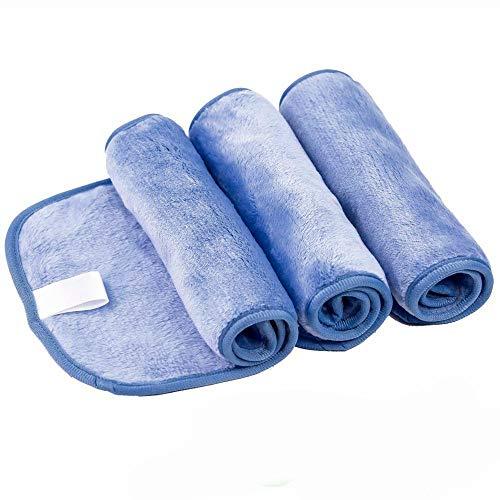 Geggur - Juego de 3 Toallas desmaquillantes de Microfibra para la Cara, desmaquillante, Reutilizable, Lavable, desatascador