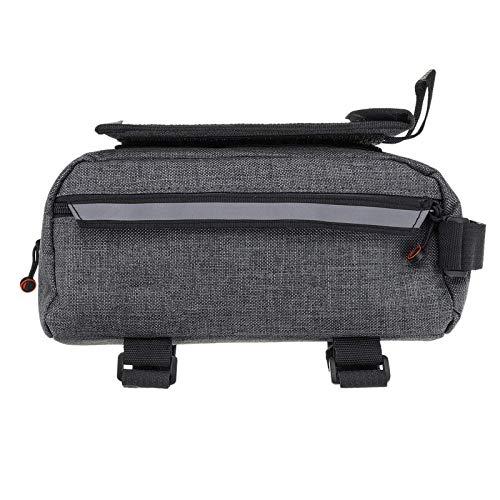 HJKH Cycling Bag Bike Bag Multifunctional Tool Bag Bicycle Front Beam Storage Bag Mobile Phone Bag Large Capacity