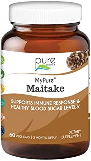 Pure Essence Labs MyPure Maitake Mushroom Extract Supplement – 100% from Fruiting Bodies to Immune Support System, Stress ...
