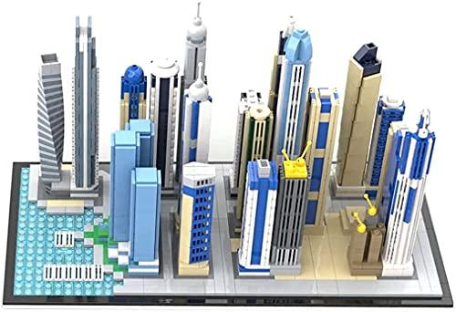 Skyline Series Dubai Marina - Juego de ladrillos de escena en miniatura, diseño de arquitectura de bricolaje de construcción de partículas pequeñas, compatible con Lego (más de 2.499 piezas)