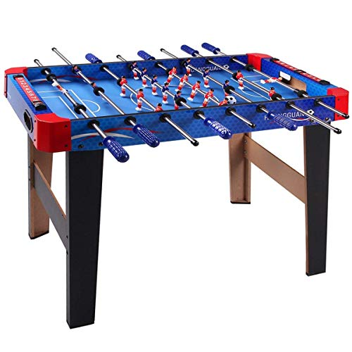 Magicwand® Mid Size Portable Foosball Soccer Game Table Set for Kids (Foosball-XXLarge-Blue)