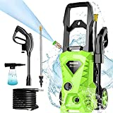 Homdox Electric Pressure Washer, Power Washer, High Power Cleaner with 4 Nozzles, Ideal for Car, Home, Garden (Green)