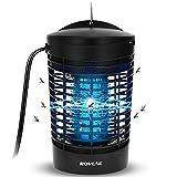 ROVLAK Lámpara Anti Mosquitos Lámpara Mata Insectos Electrico Portátil 7W UV Luz Lámpara Repelente de Mosquitos Segura y Eficaz Mosquito Trampa para Dormitorio Cocina Oficina Inicio