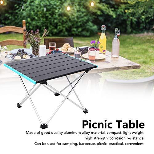 Zwindy Camping Tisch | Tragbarer klappbarer Picknick-Schreibtisch aus Aluminiumlegierung mit Aufbewahrungstasche zum Grillen im Freien Rucksack Rucksack RV Travel Kitchen Beach, leicht.