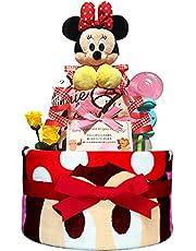 KanonBabys おむつケーキ 女の子 ミニー 出産祝い 2段 Sサイズ Mサイズ 3101