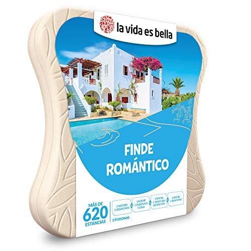 LA VIDA ES BELLA - Caja Regalo Amor para Parejas - Finde romántico - Ideas Regalos Originales - 1 o 2 Noches para 2 Personas