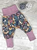 Pumphose Jersey haremshose Gr. 56-110, hose mädchen rosa Fuchs, Babyhose, Kinderhose