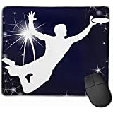 Ultimate Frisbee Silhouetteized Rectangle Mouse Pad rutschfeste Mausunterlage