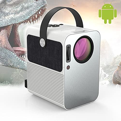 Proyector 4K, Proyector Portátil, 6000 Lúmenes, Android, Bluetooth, Soporta 1080p Full HD, Cine en Casa 300
