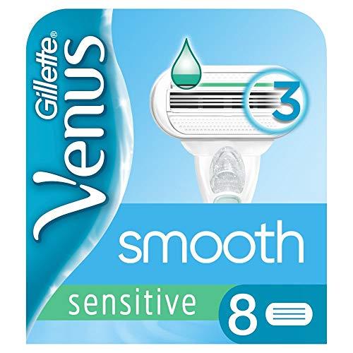 Gillette Venus Sensitive Glad Scheermesjes voor vrouwen, 8 stuks