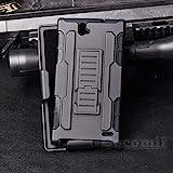 Cocomii Robot Armor ZTE Grand X Max/X Max Plus Case New [Heavy Duty] Premium Belt Clip Holster Kickstand Shockproof Bumper [Military Defender] Full Body Rugged Cover for ZTE Grand X Max (R.Black)