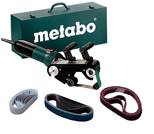 Metabo Rohrbandschleifer RBE 9-60 Set (602183510) Stahlblech-Tragkasten, 900 W, 230 V