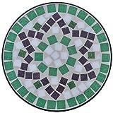 Anself Mosaik Beistelltisch Blumenständer Teetisch Ø 30 x H 60 cm - 3