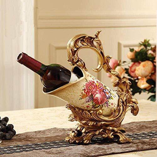 BINGFANG-W Decoración Decoraciones del Arte del Arte del Estante del Vino de Regalo Living Vino decoración de la habitación del gabinete Mesa de Comedor de Mesa estatuas