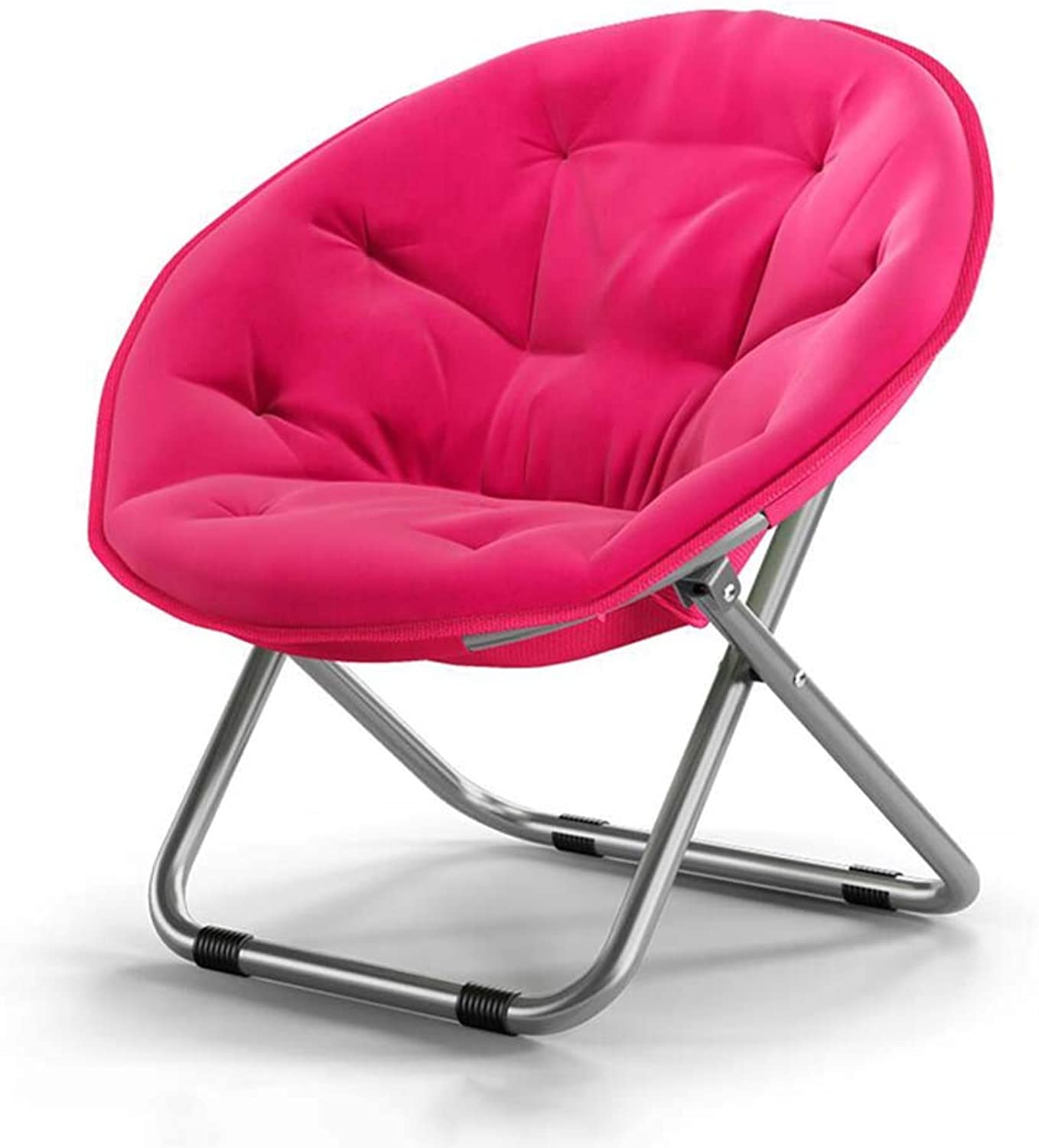 Large Adult Moon Chair Sun Lounger Lazy Chair Recliner Folding Chair Round Chair Sofa Chair,Pink