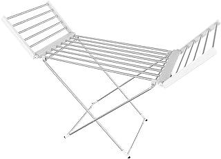 Todeco - Sèche-Linge Electrique, Etendoir Pliant d'Intérieur à Etages - Dimensions du Produit replié: 113 x 53 x 7 cm - Ma...