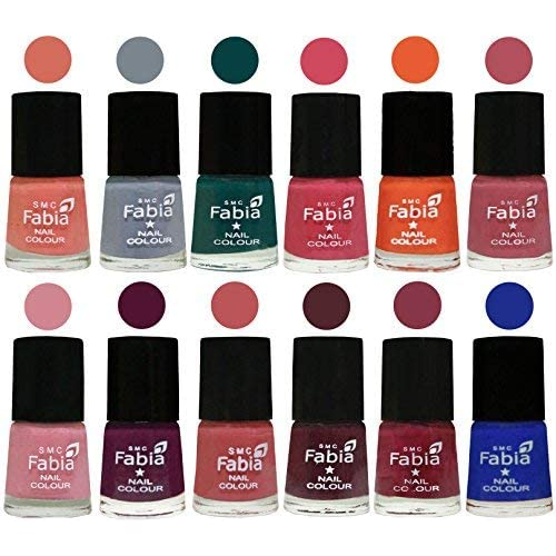 Fabia Women's Matte Nail Polish (FB-MATTE-NP-ST-319) - Pack of 12 Shades