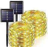 SUN100 Cadena De Luces Solares Al Aire Libre Festival De Cuento De Hadas Guirnalda De Fiesta De Boda Jardín Solar Impermeable Decoración Del Hogar