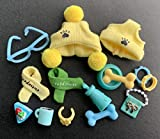 lovelypet lps Accessories(15pcs), lps Accessories Hat Scraf Glasses Collars Bones Bowl fit lps Cats and Dogs Kids Gift