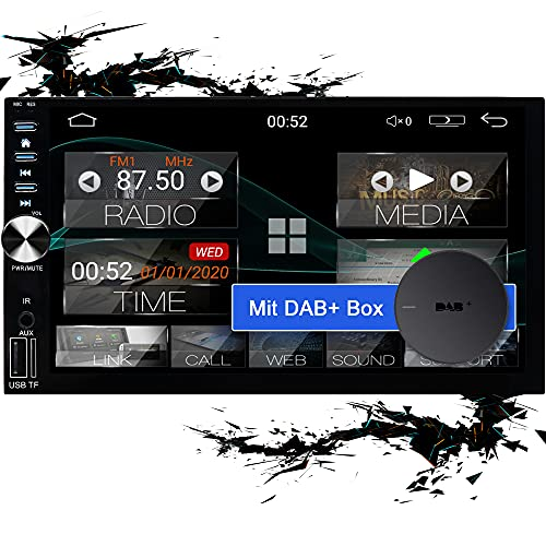 "Tristan Auron BT2D7026A Android 10 Autoradio mit Navi + DAB+ Box I 7\"" Touchscreen GPS Bluetooth Freisprechfunktion I 32GB ROM I WiFi USB SD I OBD 2 2 DIN"