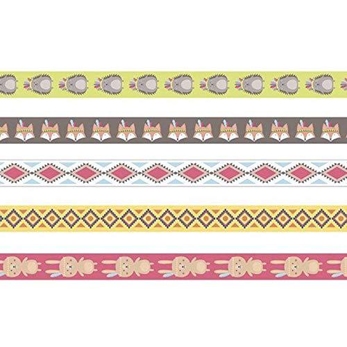 Artemio 5 Rubans de masquage 1,5 cm-Grand Chef Indien Multicolore 5 m x 1,5 cm