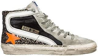 Golden Goose Women's Slide Sneakers Black Gold Glitter/Orange G35WS595.A37